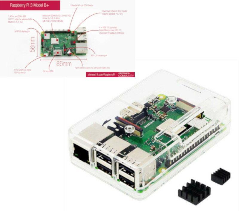 Raspberry Pi3 Model B+ ボード&ケースセット