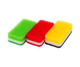 【新色】【DUSKIN 食器用 キッチン】丈夫で長持ち!!ダスキン台所用スポンジ3色セット抗菌タイプ