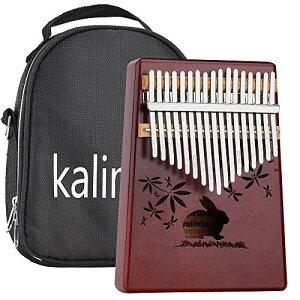 Ankuka カリンバ 17キー 音指ピアノ 17keys Kalimba 親指ピアノ マホガニー製 カリンバパーツ 専用バッグ付き 9点セット 日本語取扱