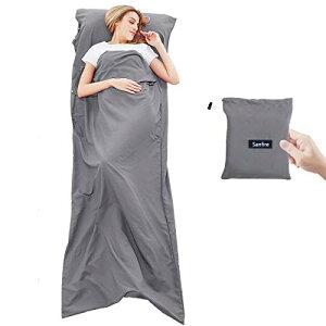 インナーシーツ シュラフ 寝袋 インナーシュラフ トラベルシーツ 封筒型 軽量 肌触り良い 旅行・列車・ホテル用 車中泊 防災用品 地