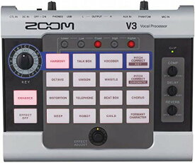 ZOOM ズ—ム ボイスチェンジャー ゲーム実況 ライブ配信 オーディオインターフェース ボーカルプロセッサ V3
