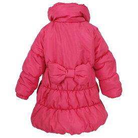 女の子 キッズ 中綿ジャンパー Aライン コート 天使のコート ジャケット シンプル無地 女の子 (ローズピンク 100cm 110cm 120cm 130cm) ガールズ キッズ ジャンパー・コート 全2色