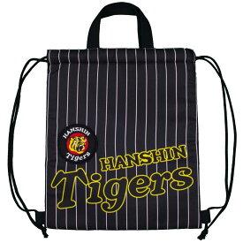 阪神タイガース ナップサック 2WAY サブバック レッスンバッグ 巾着型 日本限定発売 (ブラック 39.5×33.5) ボーイズ キッズ 小物 全1色