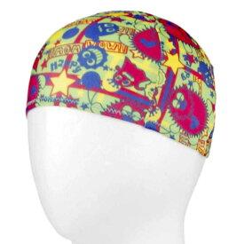 【メール便 送料無料】 モンスター柄水泳帽子(スイムキャップ) (グリーン Sサイズ Mサイズ) ボーイズ キッズ 水着 全3色