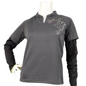 【メール便 送料無料】 パーソンズ 半袖Tシャツ アームカバー付 UVガード 紫外線対策 (チャコール Sサイズ Mサイズ Lサイズ) レディース トップス半袖 全4色