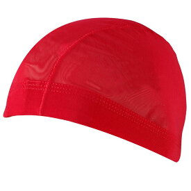 男女兼用メッシュ水泳帽(スイムキャップ) (レッド/(赤) Sサイズ Mサイズ Lサイズ LLサイズ) ボーイズ キッズ 水着 全10色