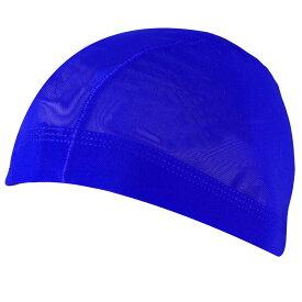 男女兼用メッシュ水泳帽(スイムキャップ) (ブルー/(青) Sサイズ Mサイズ Lサイズ LLサイズ) ボーイズ キッズ 水着 全10色