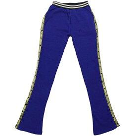 裏起毛素材綿ジャージパンツ (ブルー 140cm 150cm 160cm) ガールズ ジュニア ボトムス 全2色