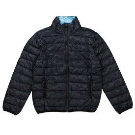 男の子 ジュニア ファイバーダウン ジャケット ジャンパー 軽量 薄手 ブルゾン 迷彩柄 訳あり B品 (ブラック/迷彩/B品 140cm 150cm 160cm) ボーイズ ジュニア ジャンパー・コート 全2色
