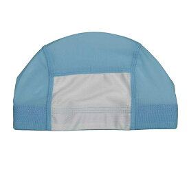 【メール便 送料無料】 男女兼用スイムキャップ メッシュ水泳帽 (サックス Sサイズ Mサイズ Lサイズ LLサイズ) ガールズ ジュニア 水着 全10色