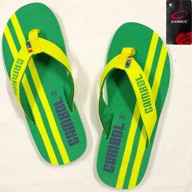 サンダル[GAM BOL]ビーチサンダル ビーサン LINE ライン柄 (グリーン 40サイズ 41サイズ 42サイズ 43サイズ) メンズ 小物 全5色