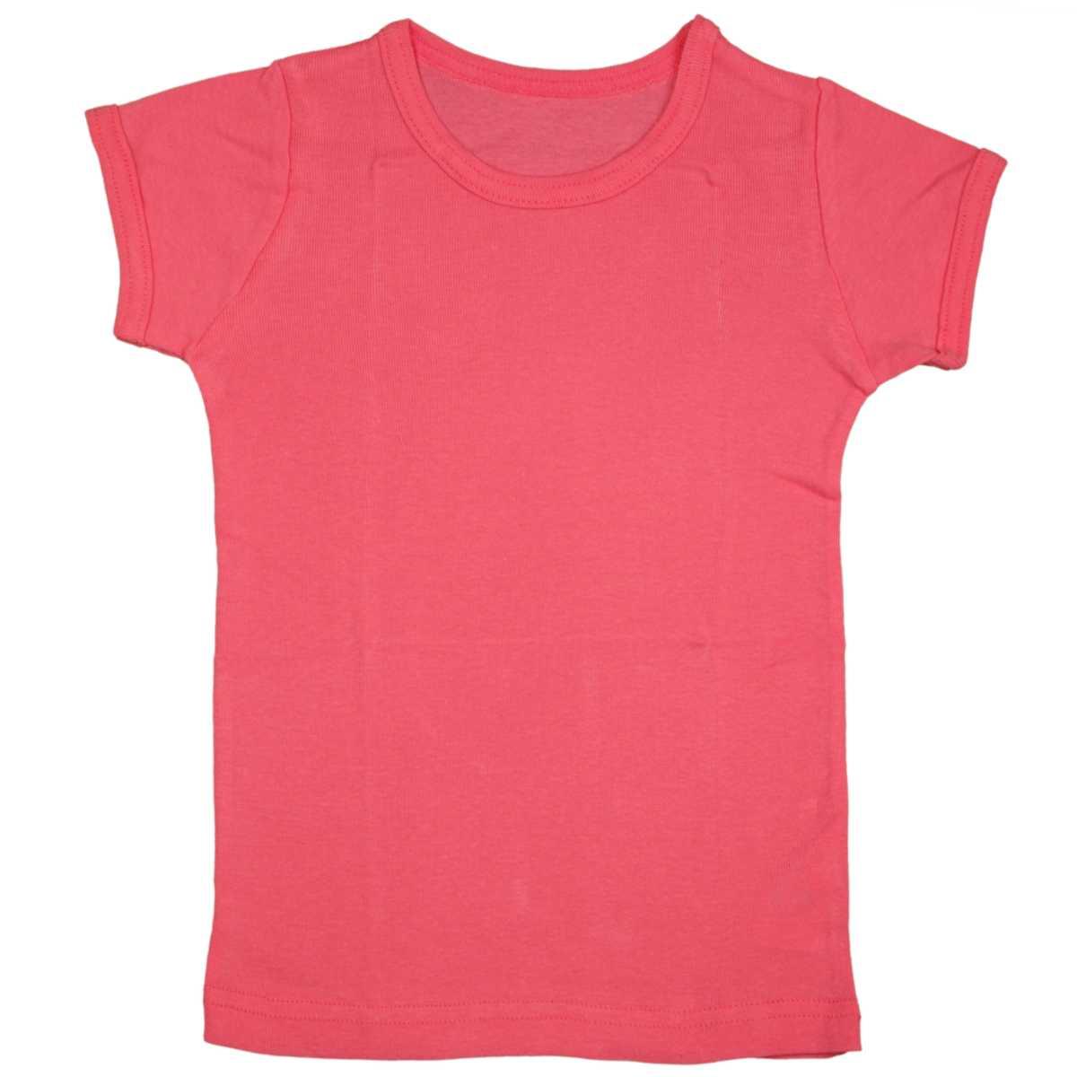 男女兼用 ベビー フライス肌着 綿100% 無地 半袖肌着シャツ おなまえネームつき 男の子 女の子 (ピンク 80cm 90cm 95cm) ガールズ ベビー 下着 全5色
