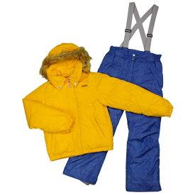 女の子オンヨネスキーウェア上下セット パンツサイズ調整機能付スキーウェア サンプル品 (イエロー/デニム 130cm 140cm 150cm 160cm) ガールズ ジュニア スキーウェア 全4色