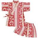 甚平 女の子 ベビー【メール便 送料無料】甚平 女の子 ベビー 綿100% おしゃれ 日本製生地 上下セット うさぎ柄 和柄…