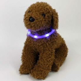 首輪 犬 猫 光る首輪 LED 防犯グッズ ライブグッズ 犬の服 犬服 かわいい おしゃれ ペット ペット用品 チューブタイプ 全8色 夜道も安心