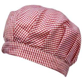 ガールズ キッズ チェック柄給食用帽子 (レッド/ピンク 50-60cm) ガールズ キッズ 小物 全4色