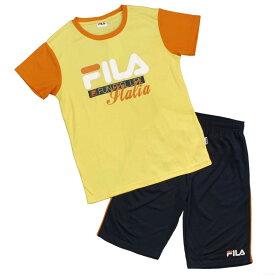 女の子 ジュニア FILA(フィラ)吸汗速乾 Tシャツ ハーフパンツ 上下セット セットアップ Tスーツ (イエロー/ネイビー 130cm 140cm 150cm 160cm) ガールズ ジュニア 上下セット 全2色