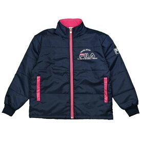 FILA(フィラ) 女の子 ジュニア ウィンドブレーカー中綿ジャケット アウター ジャンパー 女児 (ネイビー 130cm 140cm 150cm 160cm) ガールズ ジュニア ジャンパー・コート 全2色