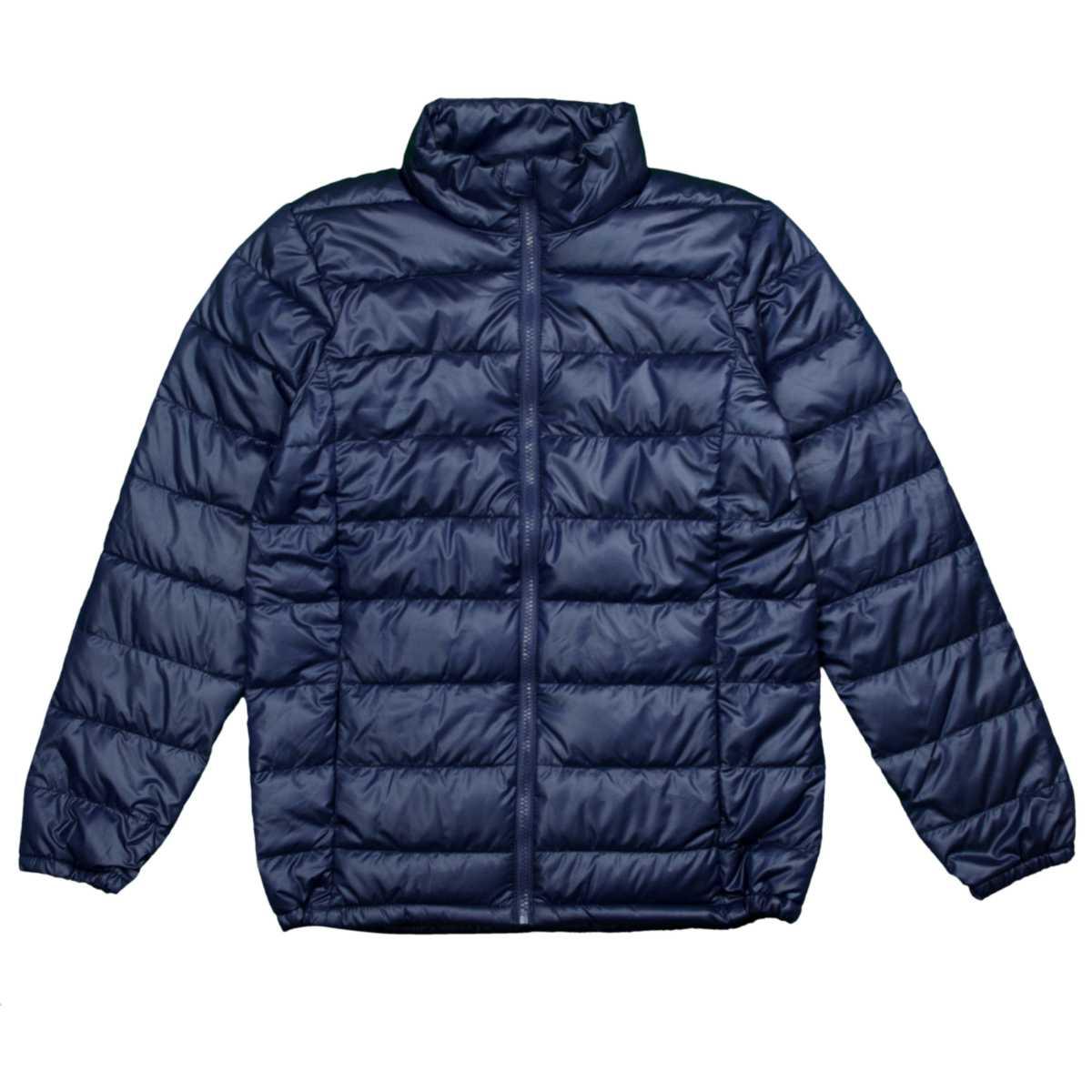 女の子 ジュニア ファイバーダウンジャケット ジャンパー 軽量 中綿コート ブルゾン (ネイビー 140cm 150cm 160cm) ガールズ ジュニア ジャンパー・コート 全3色