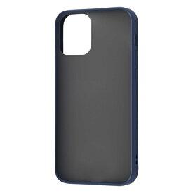 iPhone 12 mini ケース 耐衝撃 マットハイブリッドケース Sarafit ダークネイビー アイフォン アイホン ケース docomo au softbank カバー アイフォン12 ミニ iphone12mini