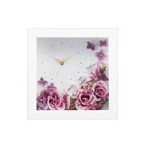 【送料無料】ハナコトバ 正方形<アメジスト>両親プレゼント プレゼント 結婚式 親ギフト お祝い 披露宴 ウェディング 両親へのプレゼント 時計 記念品