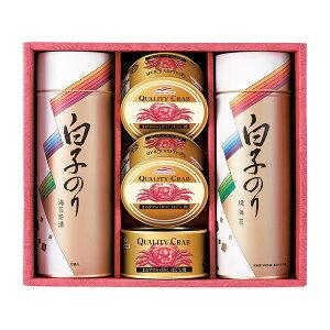 白子のり のりとカニ缶詰合せB(ギフト お祝い 内祝い 引き出物 引出物 お祝い2020食品ギフト)
