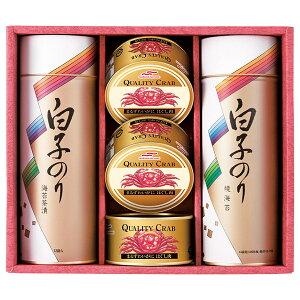 白子のり のりとカニ缶詰合せ E(夏ギフト2021海産物 )