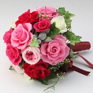 【送料無料】ブーケ 赤花 プリザーブドフラワー ギフト プレゼント 贈り物 お礼 誕生日 記念日 母の日 入社 昇進 退職祝い
