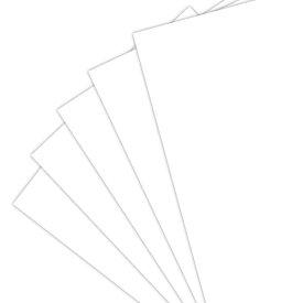 招待状用中紙(ZRホワイト三折/無地)【10名様分入り】(結婚式 ペーパーアイテム 手作りキット テンプレート ウェディング ブライダル パーティー 二次会)