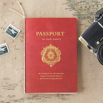 招待状【40%OFF!】Lifeisjourneyライフイズジャーニー(レッド)招待状【10冊入り】(結婚式ペーパーアイテム手作りセットテンプレートウェディングブライダルパーティー二次会パスポートユニーク旅地図)