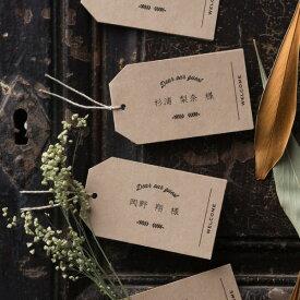 席札 Wood grainII -ウッドグレインII- 席札 1セット4名様用(結婚式 ペーパーアイテム 手作りキット テンプレート ウェディング ブライダル パーティー 二次会 木目 ウッド ナチュラル&カジュアル 名前札)