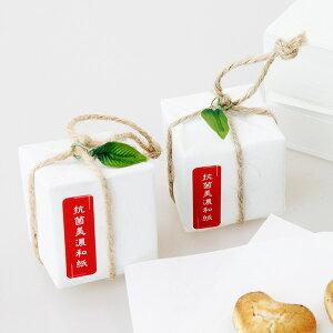 プチギフト抗菌美濃和紙小箱(紅茶クッキー2枚入り)(結婚式 二次会 ウェディング 披露宴 クッキー)