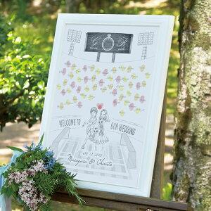 【送料無料】にがおえ指紋アート Football -サッカー-ウェディングツリー プレゼント 結婚式 ギフト お祝い 披露宴 ウェディング ウエルカムスペース