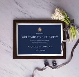 【11/19 20:00-11/26 1:59 ポイント最大35倍!】グラフィック ウェルカムボード(クラスブルー)結婚式 ギフト お祝い 披露宴 ウェディング ウェルカムスペース シンプル ナチュラル