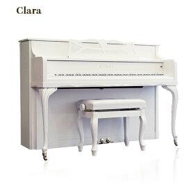KAWAI-KS-3F _【クララ・Clara】(白いピアノ アップライトピアノ)椅子・インシュレーター付き♪