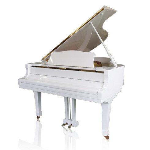 ピアノ【アイリス・Iris】(白いピアノ グランド YAMAHA G2)椅子・インシュレーター付き♪