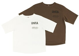【UnitA ウニタ】テンジク ポケット ユッタリTEE (140-02)【406】【DENIM DUNGAREE デニムダンガリー】