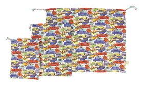 【fafa/フェフェ ポーチ 巾着セット メール便送料無料】CAMILLA (KINCHAKU SET)/カー/お着替え入れにも便利/撥水加工のシャカシャカ素材/大中小3点セット