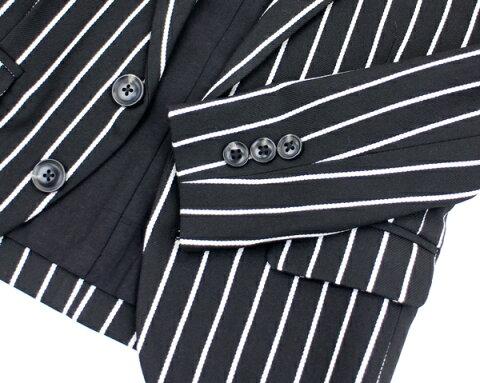 【ジェネレーターGENERATORスーツ子供服男の子】ストライプ2Bテーラードジャケット(110-120)
