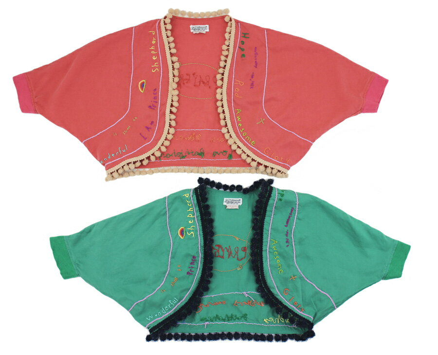 【セール ゴートゥーハリウッド GO TO HOLLYWOOD】ヤワラカツイル手刺繍カーデ(110-120)
