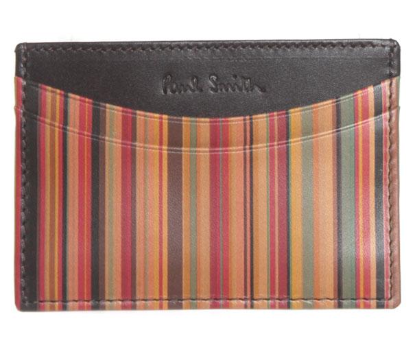 PAUL SMITH ポールスミス カードケース 1772 W217 MULTI マルチカラーストライプ 【楽ギフ_包装】【メンズ特集】