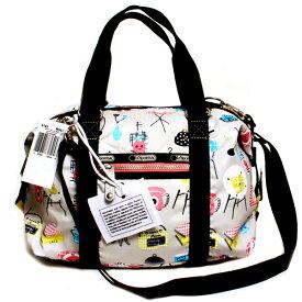 LeSportsac レスポートサック 2WAYショルダーバッグ ミニボストン SMALL LEISURE BAG A.I.R. 9785-R067 HAPPY HOME ハッピーホーム ナイロン