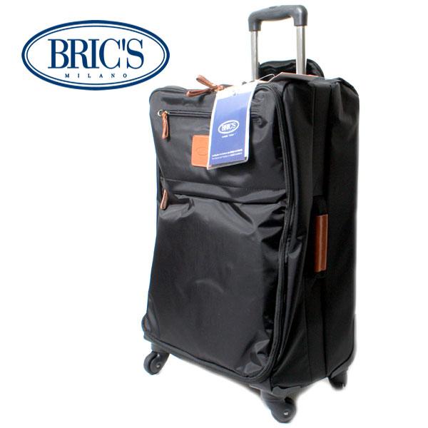 BRIC'S ブリックス X-TRAVEL ミディアムトローリー 4Wソフトキャリー 50L BXL08118.101 ブラック スーツケース キャリーケース 4輪 イタリア