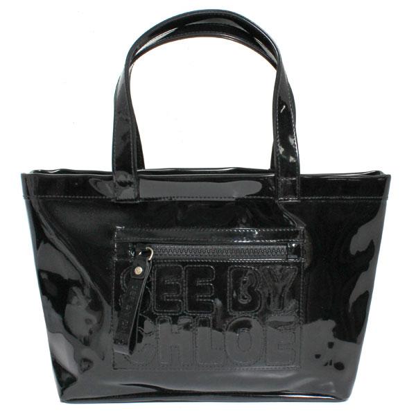 SEE BY CHLOE シーバイクロエ ZIP FILE ジップファイル トートバッグ S ブラック 9S7515-N05-001 BLACK ブラック レディース