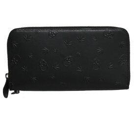 【送料無料】lucien pellat-finet ルシアン ペラフィネ ラウンドファスナー長財布 BLACK ブラック YAM09 メンズ レディース ユニセックス