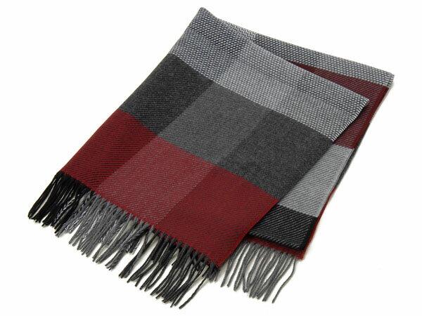 【新品】renoma レノマ マフラー スカーフ ショール SCALF GZ240 360 A GREY/RED グレー/レッド