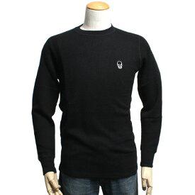 【送料無料】lucien pellat-finet ルシアンペラフィネ スカル メンズ セーター UE02 ブラック カシミア/コットン
