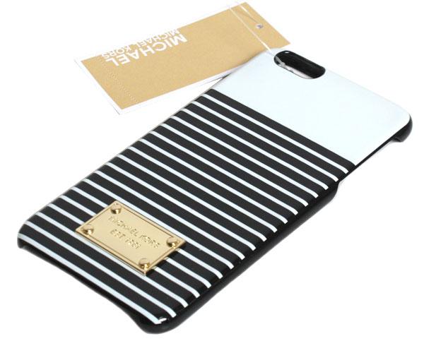マイケルコース MICHAEL KORS スマホケース PHONE COVER 6 32S6GELL2R R-103 WHITE/ BLACK レディース スマホカバー iphone6 Plus・iphone6s Plus【楽ギフ_包装】