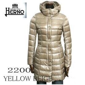 HERNO ヘルノ レディース ロング ダウンコート PI0045D-12017-2200 イエローベージュ