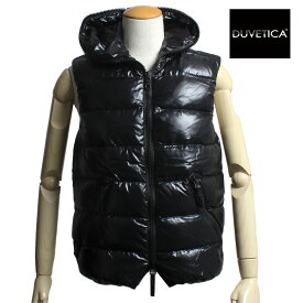 【送料無料】DUVETICA デュベティカ メンズ フード付き ダウンベスト ARISTEO アリステオ 182-U.2261N00-1035R 999ALL ALL BLACK オールブラック デュベチカ
